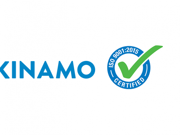 Kinamo behaalt ISO 9001:2015 certificatie!