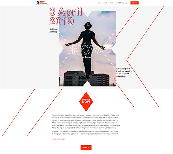 TEDxFlanders website design